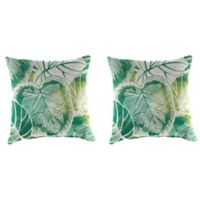 Outdoor 16-Inch Square Throw Pillow in Keycove Lagoon (Set of 2)