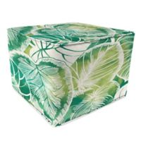 Outdoor 20-Inch Square Pouf in Keycove Lagoon
