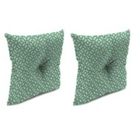 Outdoor 16-Inch Square Throw Pillow with Center Hector in In the Frame Oasis (Set of 2)