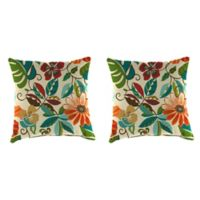 Outdoor 16-Inch Square Throw Pillows in Lensing Jungle (Set of 2)