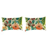 Outdoor 18-Inch x 12-Inch Rectangle Throw Pillows in Lensing Jungle (Set of 2)