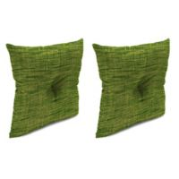 Outdoor 16-Inch Square Throw Pillows with Center Hector in Remi Palm (Set of 2)