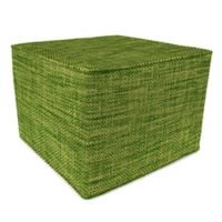 Outdoor 20-Inch Square Pouf in Remi Palm