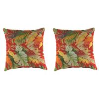 Outdoor 16-Inch Square Throw Pillow in Tomesa Fireball (Set of 2)