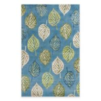 KAS Florence Leaves 5-Foot x 8-Foot Area Rug in Ocean