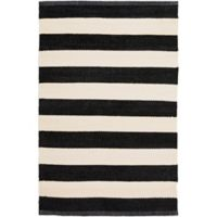 Surya Charon 2-Foot x 3-Foot Accent Rug in Black/White