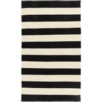 Surya Charon 5-Foot x 8-Foot Area Rug in Black/White