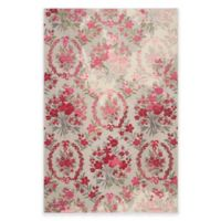 Safavieh Monaco Bouquet 5-Foot x 7-Foot Area Rug in Ivory/Pink
