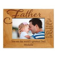 "Father ""The Best Gift"" 4-Inch x 6-Inch Picture Frame"