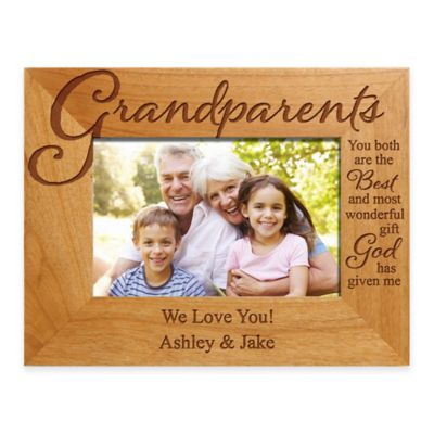 grandparents the best gift 4 inch x 6 inch picture frame
