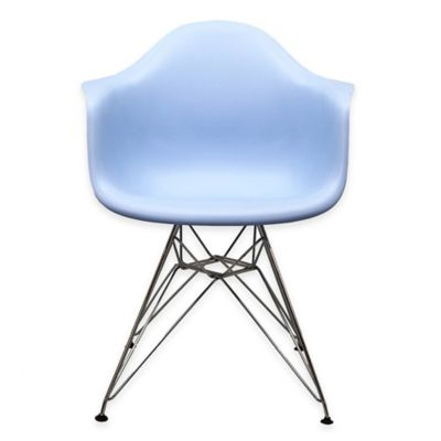 Modway Paris Dining Arm Chair In Blue