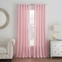Cambria® Malta 84-Inch Rod Pocket/Back Tab Window Curtain Panel in Pink
