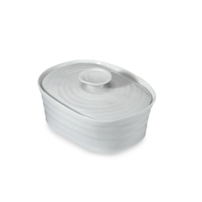 sophie conran for portmeirion covered butter dish in white