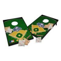 MLB Milwaukee Brewers Tailgate Toss Cornhole Set
