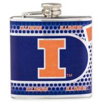 University of Illinois Stainless Steel Hip Flask
