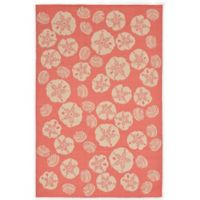 Trans-Ocean Shell Toss 1-Foot 11-Inch x 7-Foot 6-Inch Indoor/Outdoor Rug in Coral