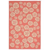 Trans-Ocean Shell Toss 4-Foot 10-Inch x 7-Foot 6-Inch Indoor/Outdoor Rug in Coral