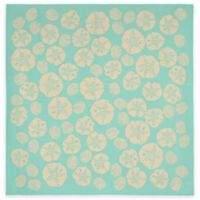 Trans-Ocean Shell Toss 7-Foot 10-Inch x 7-Foot 10-Inch Indoor/Outdoor Rug in Turquoise