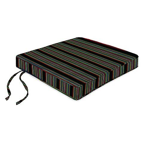 18 Inch Boxed Edge Seat Cushion In Sunbrella HiFi Glow