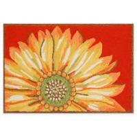 Trans-Ocean Frontporch Sunflower 1-Foot 7-Inch x 2-Foot 5-Inch Door Mat in Red