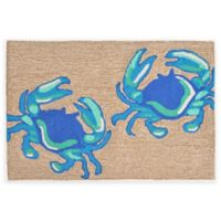 Trans-Ocean 2-Foot 6-Inch x 4-Foot Frontporch Crabs Door Mat in Blue