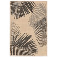 Liora Manne Terrace Palms 1-Foot 11-Inch x 2-Foot 11-Inch Indoor/Outdoor Rug in Neutral