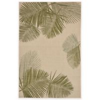 Liora Manne Terrace Palms 3-Foot 3-Inch x 4-Foot 11-Inch Indoor/Outdoor Rug in Green