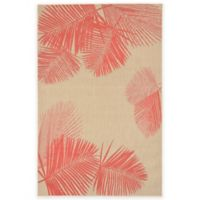 Liora Manne Terrace Palms 1-Foot 11-Inch x 7-Foot 6-Inch Indoor/Outdoor Rug in Coral