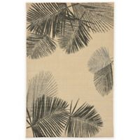 Liora Manne Terrace Palms 3-Foot 3-Inch x 4-Foot 11-Inch Indoor/Outdoor Rug in Neutral