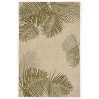 Liora Manne Terrace Palms 4-Foot 10-Inch x 7-Foot 6-Inch Indoor/Outdoor Rug in Green