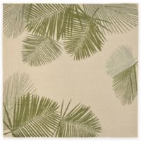 Liora Manne Terrace Palms 7-Foot 10-Inch Square Indoor/Outdoor Rug in Green