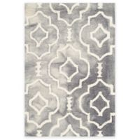 Safavieh Dip Dye Moroccan Trellis 2-Foot x 3-Foot Accent Rug in Grey/Ivory