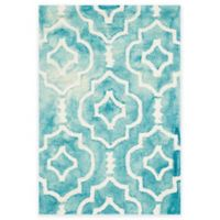 Safavieh Dip Dye Moroccan Trellis 3-Foot x 5-Foot Area Rug in Turquoise/Ivory