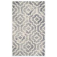 Safavieh Dip Dye Moroccan Trellis 3-Foot x 5-Foot Area Rug in Grey/Ivory