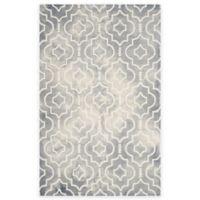 Safavieh Dip Dye Moroccan Trellis 4-Foot x 6-Foot Area Rug in Grey/Ivory