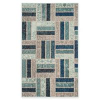 Safavieh Monaco Parquet 3-Foot x 5-Foot Area Rug in Grey/Blue