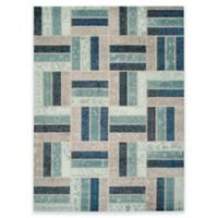 Safavieh Monaco Parquet 9-Foot x 12-Foot Area Rug in Grey/Blue