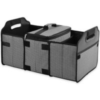 Picnic At Ascot Trunk Organizer and Cooler 2-Piece Set in Houndstooth