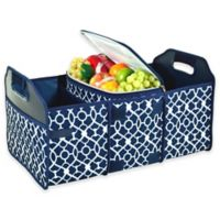 Picnic at Ascot Trunk Organizer and Cooler 2-Piece Set in Trellis Blue