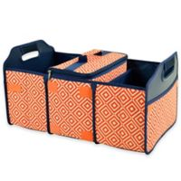 Picnic at Ascot Trunk Organizer and Cooler 2-Piece Set in Orange/Navy