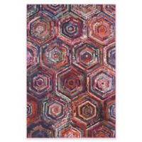 Safavieh Monaco Spiral 6-Foot 7-Inch x 9-Foot 2-Inch Area Rug in Pink Multi