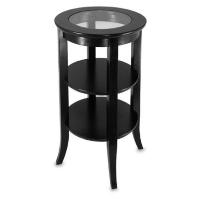 Round Telephone Table With Glass Top
