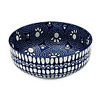 Speckle & Spot Pet Bowl in Blue/White