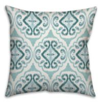Watercolor Coastal 18-Inch Square Throw Pillow in Blue