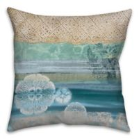 Underwater Sea 18-Inch Square Throw Pillow in Blue/Beige