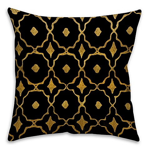 Black Throw Pillows Bed Bath And Beyond : Speckles Throw Pillow in Black/Gold - Bed Bath & Beyond