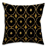 Speckles 16-Inch Square Throw Pillow in Black/Gold