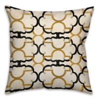 Quatrefoil 18-Inch Square Throw Pillow in Gold/Ivory