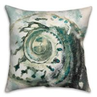 Abstract Shell 18-Inch Throw Pillow