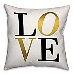 Golden Love 16-Inch Square Throw Pillow